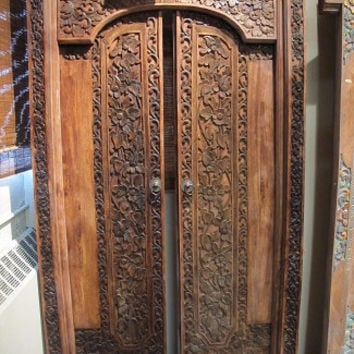 Handcarved Mahogany Door