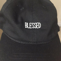 Blessed Baseball Hat Low Profile Embroidered Baseball Caps Dad Hats Black