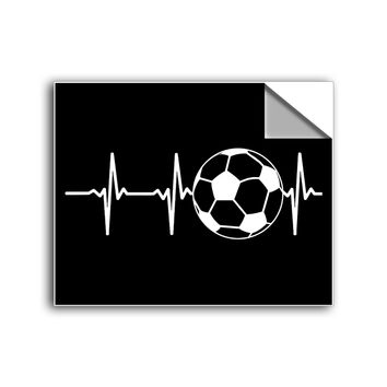 "FREE SHIPPING - ""Soccer Heartbeat"" Vinyl Decal Sticker (5"" tall) - Limited Time Only!"