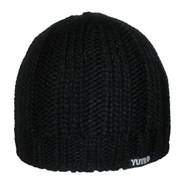 YUTRO Fashion Winter Wool Knitted Fleece Lined Ski Beanie Hat BLACK