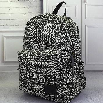 Vintage Aztec Canvas Lightweight Backpack Travel Bag School Bag Daypack