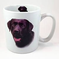 Black Labrador Retriever Coffee Mug Cup 16oz Lab Dog History Taskets k188