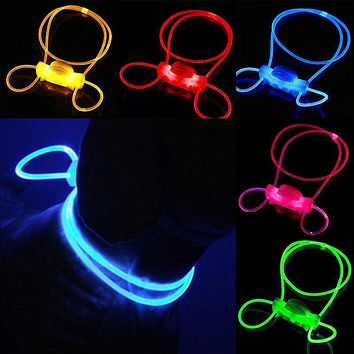 High Quality CHIC Light Up Night Safety Pet Dog Collar Luminous Adjustable Collar Leash Products
