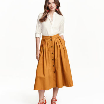 H&M Wide Cotton Skirt $39.99
