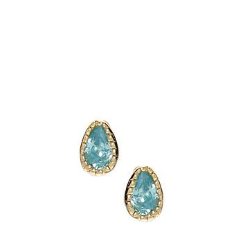 ASOS Gold Plated Sterling Silver March Birthstone Earrings