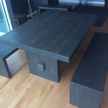 Butcher Block Dining Table Set