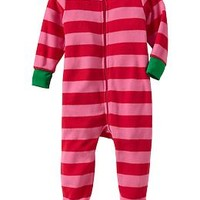 Graphic Fleece Footed Sleepers for Baby