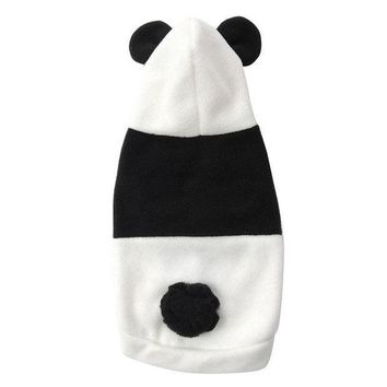 CREY6F Hot Fashion Cute Pet Dog Cat Clothes Coat Apparel Puppy Warm Jacket Hoodie Panda Costume