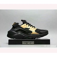 Nike Wallace running sports shoes F-HAOXIE-ADXJ   Black - Gold