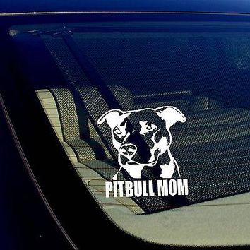 "I'm Proud to Be a Pitbull Mom Decal Sticker 4"", Rescue Dog, Dog Lover Gifts"
