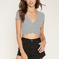 Stripe Surplice Crop Top | Forever 21 - 2000184939