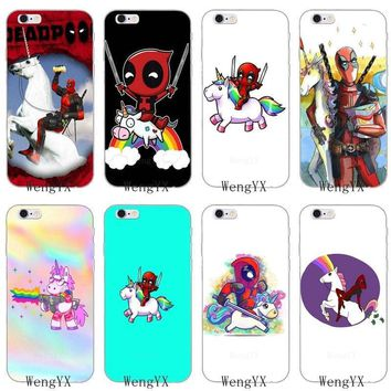 Deadpool Dead pool Taco funny cartoon  Unicorns silicone Soft phone case For Sony xperia XA Z Z1 Z2 Z3 Z4 Z5 Premium Compact Mini M2 M4 M5 E3 T3 AT_70_6