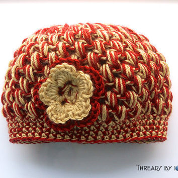 Bubble Hat - San Francisco 49ers Red & Gold - Ready to Ship