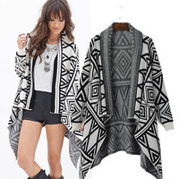 Ladies Long Sleeve Scarf Knit Tops Sweater Jacket [5013163076]