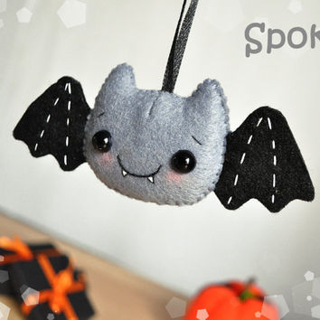 felt halloween decor bat ornament halloween toy felt ornaments halloween gifts party favor decorations halloween cute