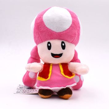 "Super Mario party nes switch 2017   6.5"" 17cm Plush Toy  Plush Toys Mushroom Toadette Stuffed For Baby Gifts AT_80_8"