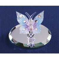 Blue Butterfly Glass Figurine