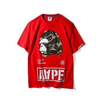 AAPE 'Camo Ape Soldiers Logo' T-Shirt