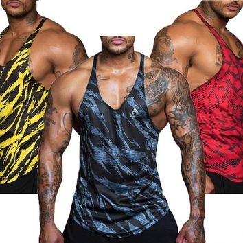 Mesh cloth Quick dry 2017 Singlets Camouflage Tank Tops Shirt Bodybuilding Equipment Fitness Men's Golds GymStringer