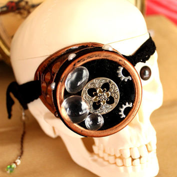 "Monocle's glasses goggles steampunk ""Mysterious"""