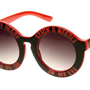 """Red """"Guess My Heart"""" Sunglasses"""