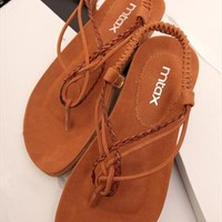 Braided Flat Sandals BVJ060507 from topsales