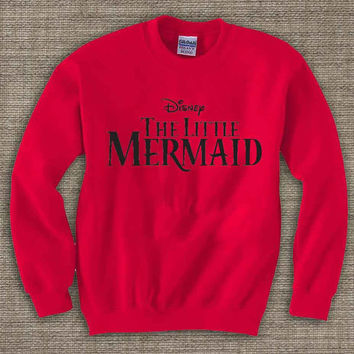 the little mermaid merry christmas ya filthy animal ,Ugly Chistmas Sweater. Holiday Sweatshirt. Holiday Shirt. Christmas Swetshirt.