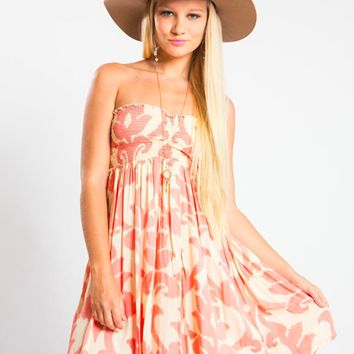 Tiare Hawaii Seaside Short Dress Peach Native