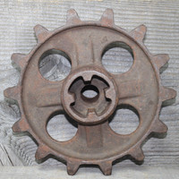 Rusty Gear Sprocket Tractor Part Industrial Piece for Art or Use