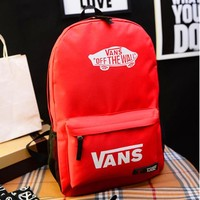 Casual Comfort Back To School Hot Deal College On Sale Canvas Korean Stylish Alphabet Backpack [11884164627]
