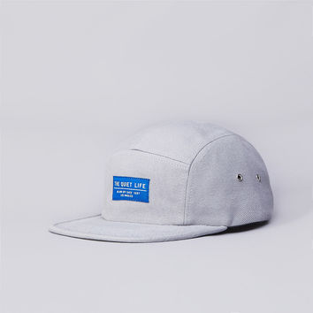 Flatspot - The Quiet Life Wool Serge 5 Panel Cap Grey