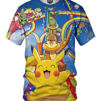 Pikachu Riding Rainbow Tee