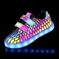 Kid Luminous LED Shoes For Boys Girls Lights Running Shoes Kids 7 Colors USB Charge Children Sneakers Shoes
