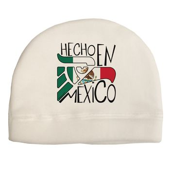 Hecho en Mexico Design - Mexican Flag Child Fleece Beanie Cap Hat by TooLoud