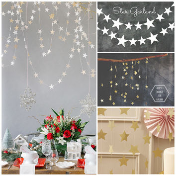 Holiday Decoration Arrangement  Pentagram Star Ornaments Scene Layout  [9357946820]