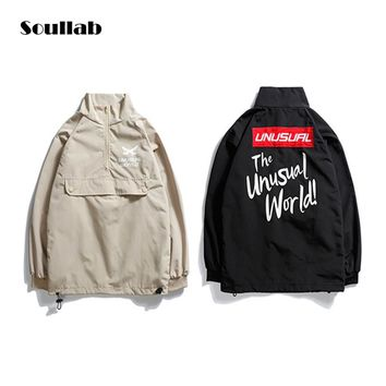 soullab half zip bboy men tops jacket anorak coat vintage design hip hop rap rapper boy skate skateboard streetwear clothes