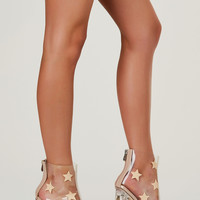 To The Stars Clear Ankle Bootie