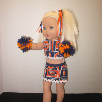 "Auburn University American Girl 18"" Doll Cheer Outfit By Sweetpeas Bows & More"