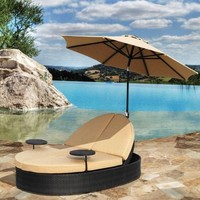 Solara Outdoor Patio Double Chaise Lounge