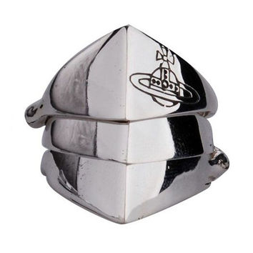 Warrior Knights Armor Ring for Men's Fashion Design Cool Jewelry-Size 11