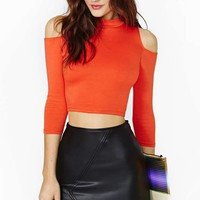 Nasty Gal Rapture Crop Top - Orange
