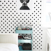Self adhesive vinyl temporary removable wallpaper, wall decal - Dalmatian Polka dot - 003