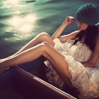 beauty, being women, blue, boat, dreamy, dreamy boat - inspiring picture on Favim.com