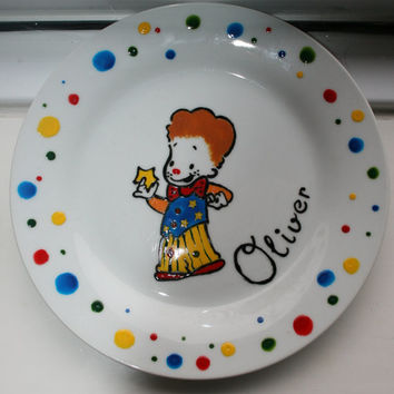 personalised porcelain plates with favourite character and decorative border
