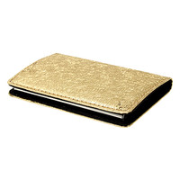 Gold Textured Business Card Case