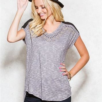Studded Front Top