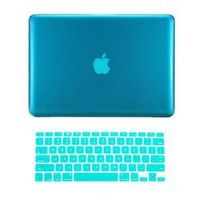 """TopCase® 2 in 1 AQUA BLUE Crystal See Thru Hard Case Cover and Keyboard Cover for Macbook Pro 13-inch 13\"""" (A1278/with or without Thunderbolt) with TopCase® Mouse Pad: Computers & Accessories"""