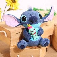 Kawaii Stitch Plush Toys 23cm Lilo and Stitch Stich Plush Toy Soft Stuffed Animal Doll Kids Toys
