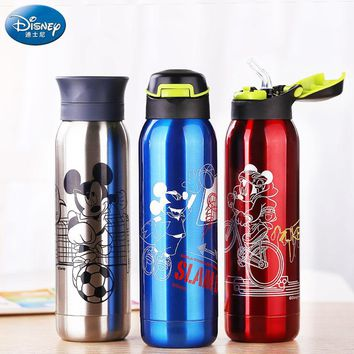 Disney Mickey Stainless Steel Thermos Cup Sport Bike Insulated Themo Mug Drink bottle For water Vacuum Flask For Car coffee