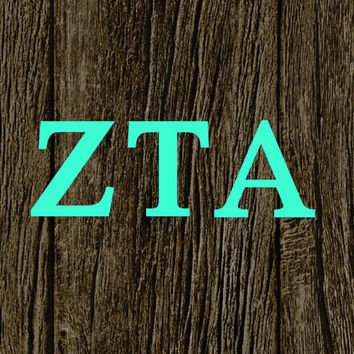 Zeta Tau Alpha Car Decal | Zeta Tau Alpha Car Sticker | Zeta Tau Alpha Sorority | Zeta Tau Alpha Laptop Decal | Greek Car Decal | 187